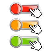 Click here button — Stock Vector