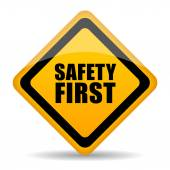 Safety first sign — Stock Vector