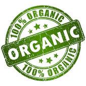 Organic vector stamp — Stock Vector
