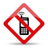Telefon vektör iz yok — Stok Vektör