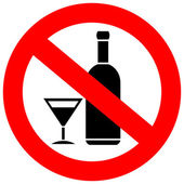 No alcohol drinks sign — Stock Vector