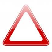 Blank warning sign — Stock Vector