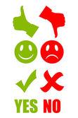 Good bad symbol — Stock Vector