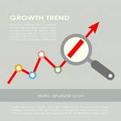 Growth trend poster — Stock Vector