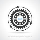Gear rotation icon — Stock Vector
