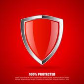 Shield protection icon — Stock Vector