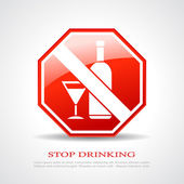 Stop drinking sign — Stock Vector
