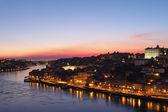 Beautiful Porto cityscape at blue hour — Stock Photo