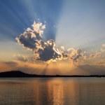 Biblical sunset cloudscape — Stock Photo #79411378