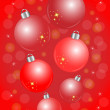 Red Christmas balls — Stock Vector #58617101