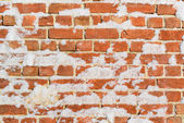 Brick wall with snow perfect as background — Stock Photo