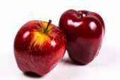 Two red delicious apple on a white background — Stock Photo