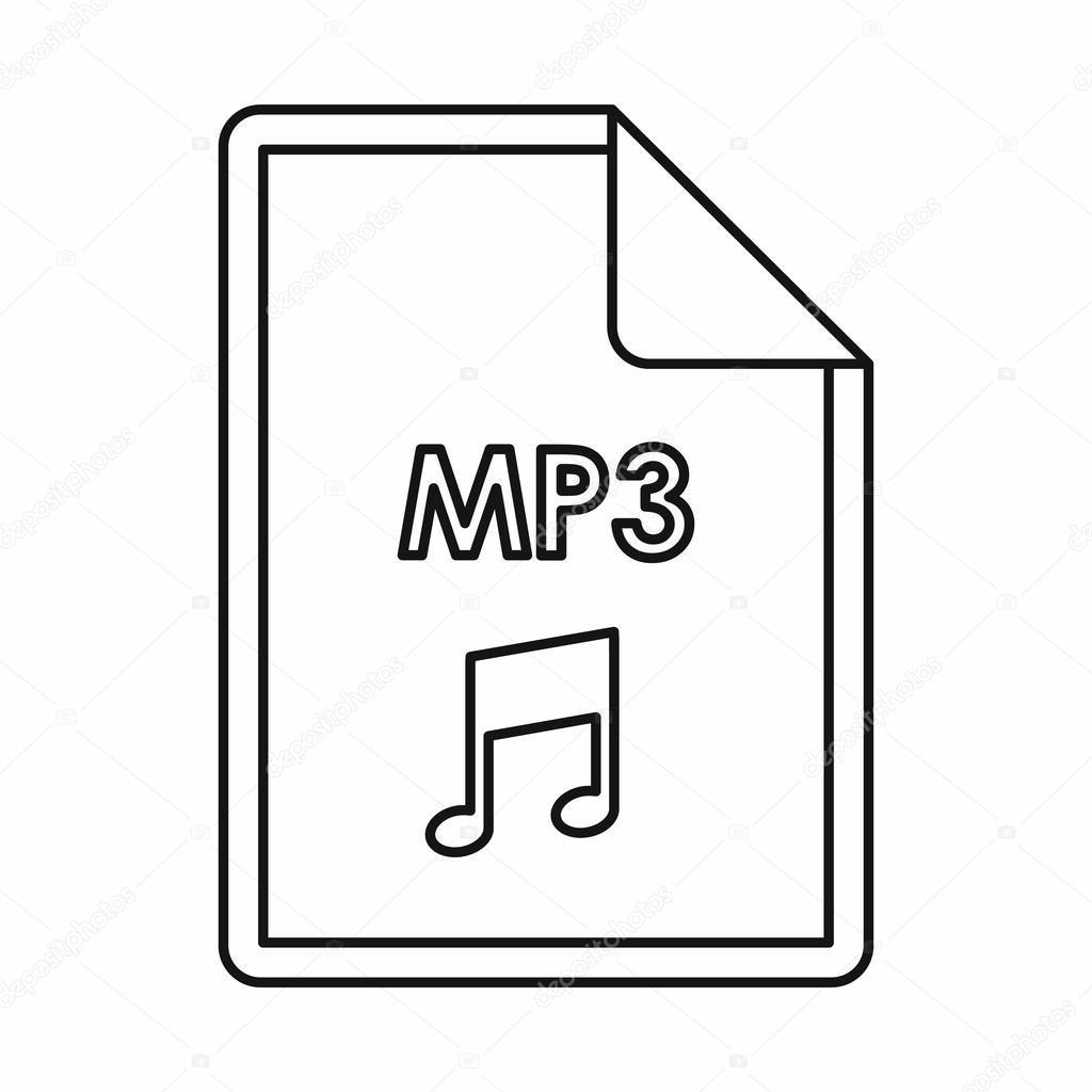 Скачать иконку файла mp3