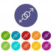 Icono plano de sexo — Vector de stock