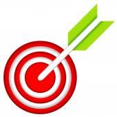 Dart Hitting A Target — Stock Vector