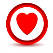 Red heart icon — Stock Vector #64985233