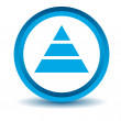 Blue pyramid icon — Stock Vector #64987309