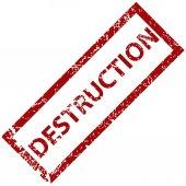 Destruction rubber stamp  — Stock Vector