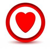 Czerwona ikona — Wektor stockowy