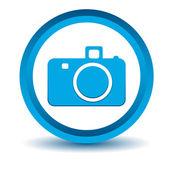 Blue camera icon — Stock Vector