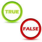 True false icons set — Stock Vector