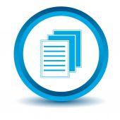 Blauwe bestandspictogram — Stockvector