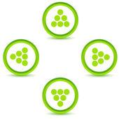 Green arrows icons set — Stock Vector