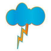 Creative geometric thunderstorm icon — Stock Vector
