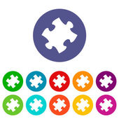 Puzzle flat icon — Stock Vector