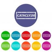 Cataclysm flat icon — Stock Vector