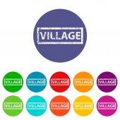 Village flat icon — Vettoriale Stock