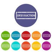 Destruction flat icon — Stock Vector