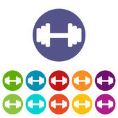 Barbell flat icon — Stock Vector