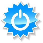Power blue icon — Stock Vector