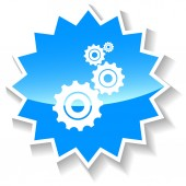 Mechanism blue icon — Stock Vector