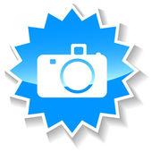Camera blue icon — 图库矢量图片