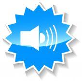 Sound blue icon — Stock Vector