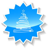 Fir-tree blue icon — Stock Vector