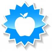 Apple blue icon — Stock Vector