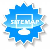 Sitemap blue icon — Stock Vector