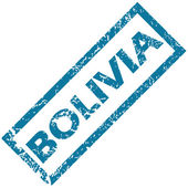 Sello de goma de Bolivia — Vector de stock