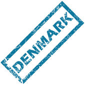Denmark rubber stamp  — Stock Vector