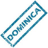Dominica rubber stamp  — 图库矢量图片