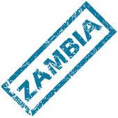 Zambia rubber stamp  — Stock vektor