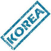 Korea rubber stamp  — Stock Vector