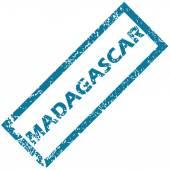 Sello de goma de Madagascar — Vector de stock