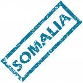 Somalia rubber stamp  — Stok Vektör