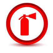Red fire extinguisher icon — Stock Vector