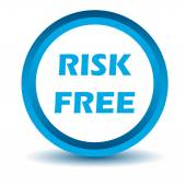 Blue risk free icon — Stock Vector
