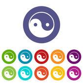 Yin Yang flat icon — Stock Vector